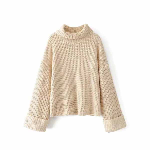 'Chelsea' Ribbed Turtleneck Sweater
