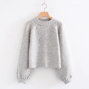 'Ana' Pearl Embellished Sweater