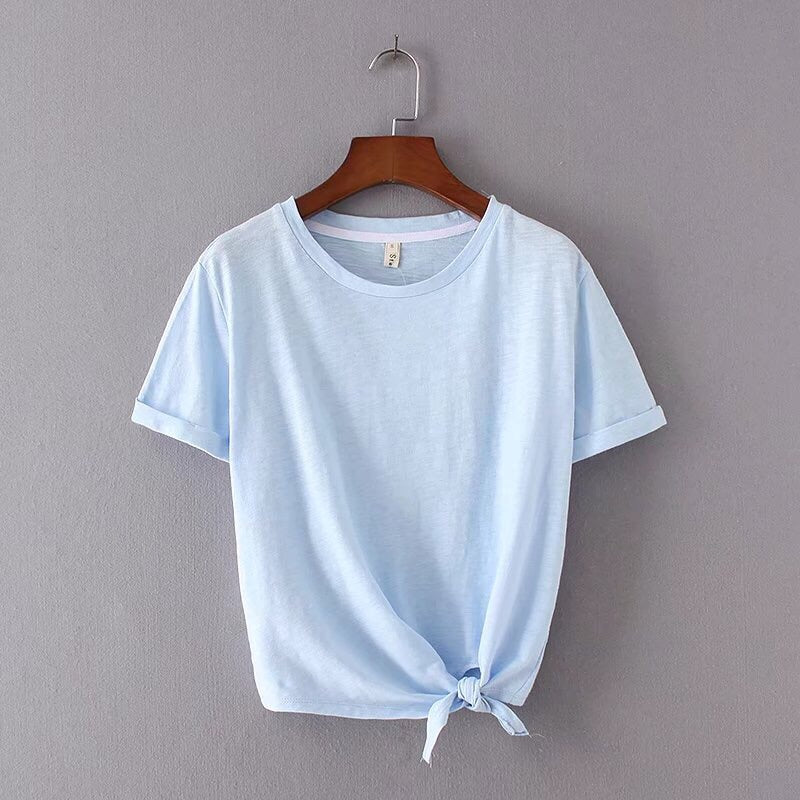 Baby Doll Side Tie Tee