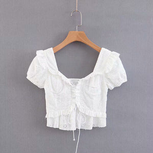 Petunia Cropped Lace Top