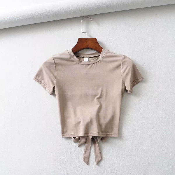 Golden Summer Tie Back Tee