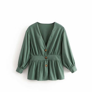 'Matilda' Button Front Top