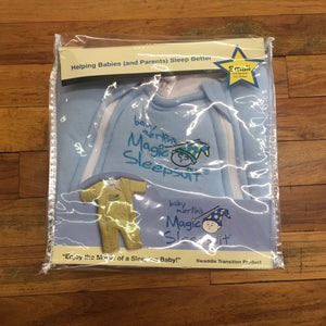 BABY MERLIN MAGIC SLEEPSUIT/BLUE