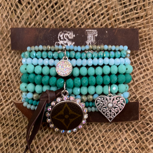 LV BRACELET SETS/GREEN