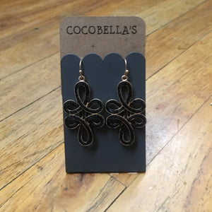 Black rope Earrings