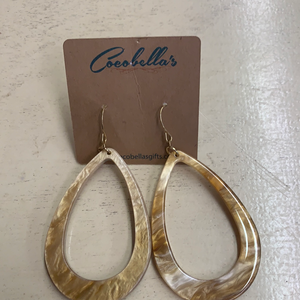 OVAL YELLOW EARRINGS