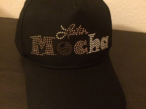SALE - LatinMocha rhinestone logo baseball cap (BLACK/TAN/DENIM)