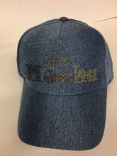 LatinMocha rhinestone logo baseball cap (BLACK/TAN/DENIM)