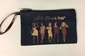 Wristlet/Make-up Bag (Denim)