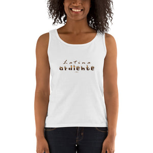 """Latina ardiente"" - Ladies' RacerBack Tank Top"