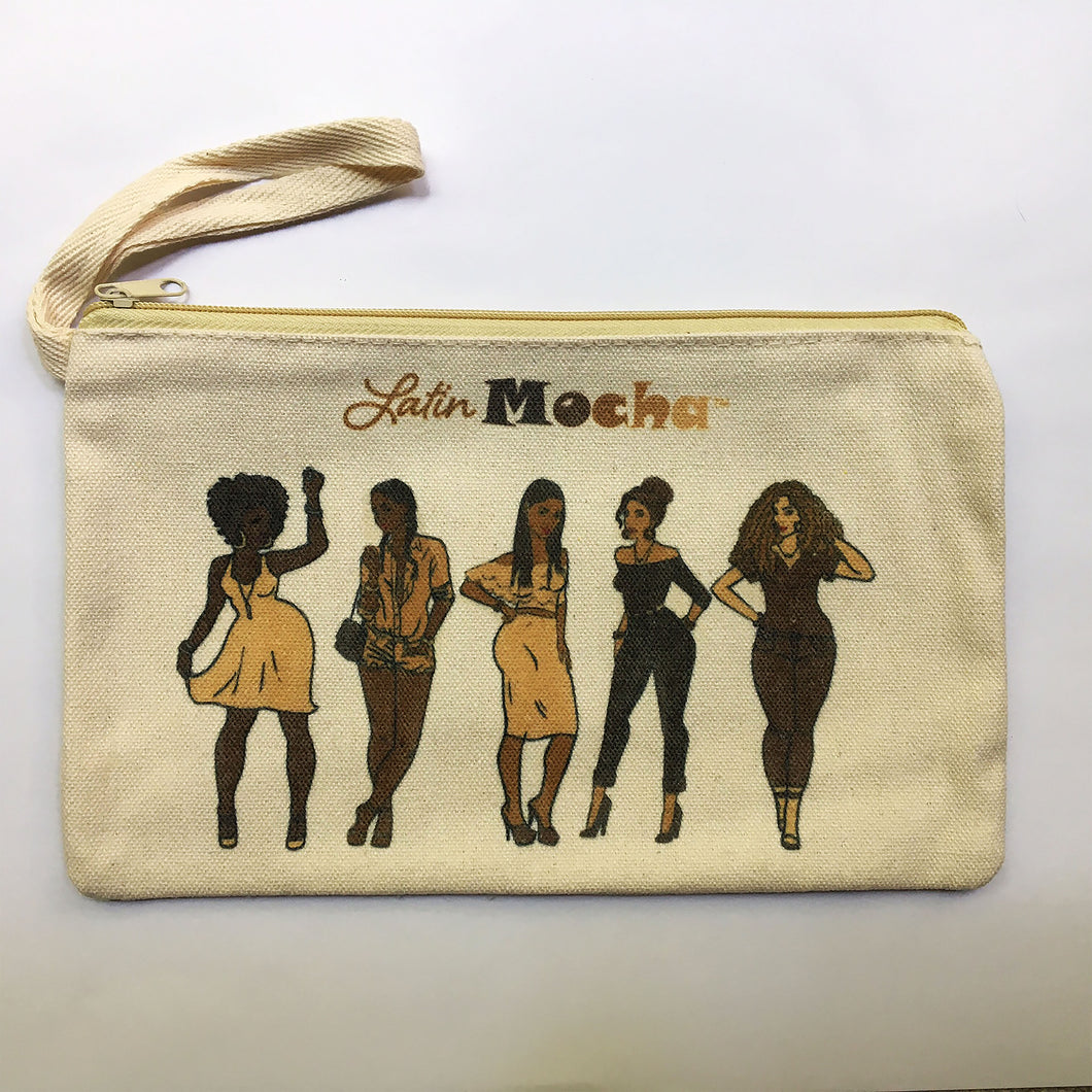 SALE - Wristlet/Make-up Bag (CANVAS)