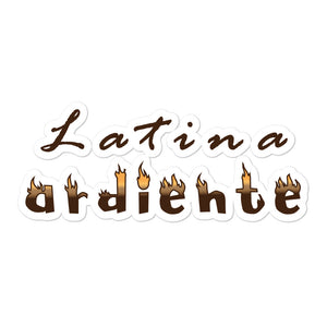 """Latina ardiente"" Bubble-free stickers"