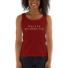 """Morena ardiente"" - Ladies' RacerBack Tank Top"