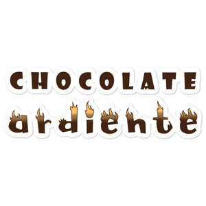 """Chocolate ardiente"" Bubble-free stickers"