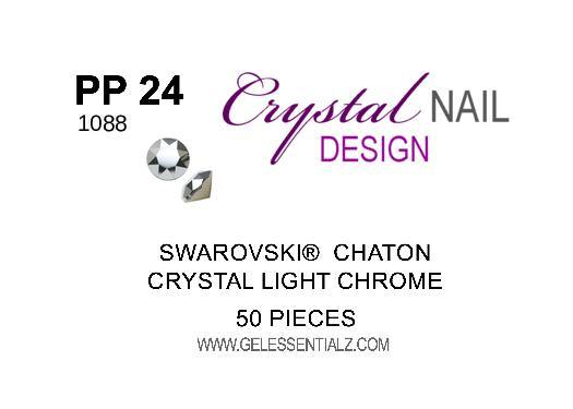 PP24 CRYSTAL LIGHT CHROME CHATON 50PC