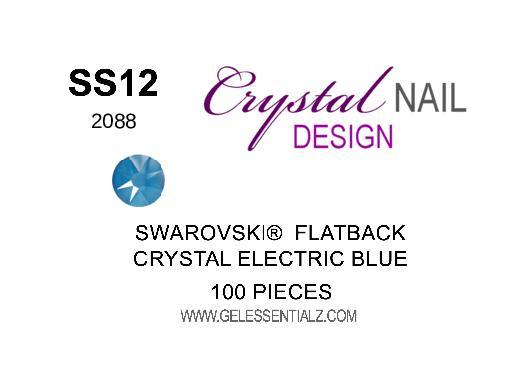 Crystal Electric Blue  - SWAROVSKI FLATBACK