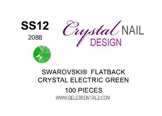 Crystal Electric Green  - SWAROVSKI FLATBACK