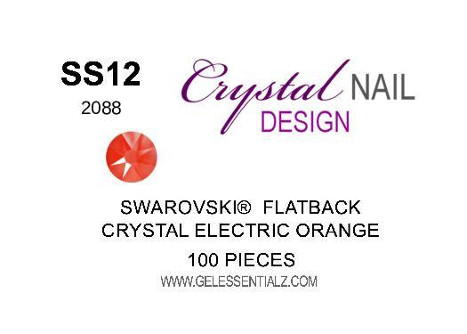 Crystal Electric Orange  - SWAROVSKI FLATBACK