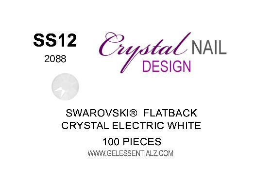 Crystal Electric White  - SWAROVSKI FLATBACK