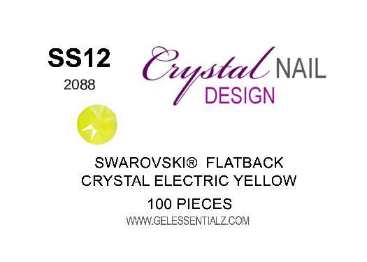 Crystal Electric Yellow  - SWAROVSKI FLATBACK