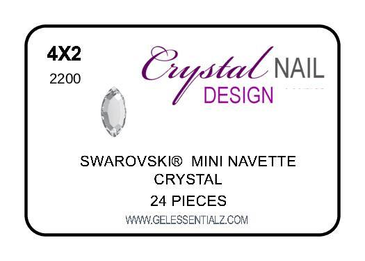 MINI NAVETTE FLAT BACK - CRYSTAL
