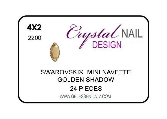 MINI NAVETTE FLAT BACK - GOLDEN SHADOW-Gel Essentialz