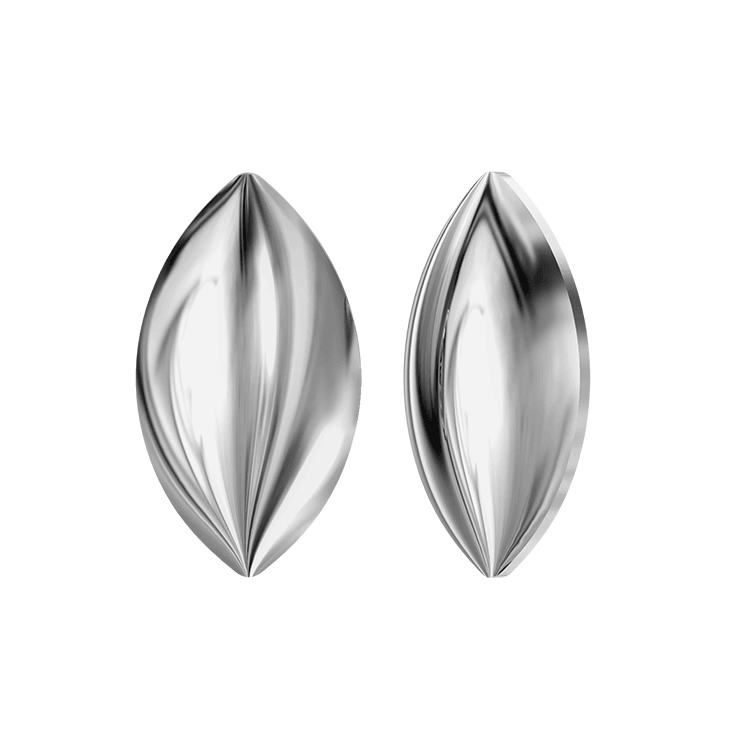 Swarovski Navette Cabochon 2208/4 - Light Chrome