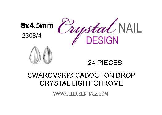 Swarovski Drop Cabochon 2308/4 - Light Chrome