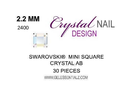 MINI SQUARE FLAT BACK - CRYSTAL AB