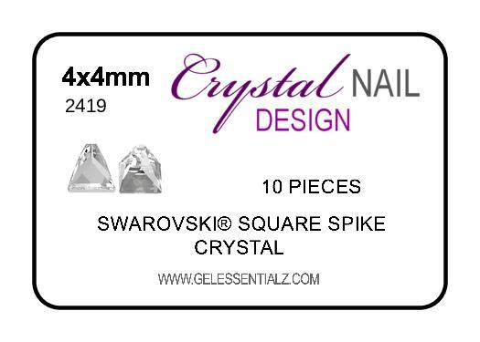Swarovski Square Spike Flat Back - Crystal