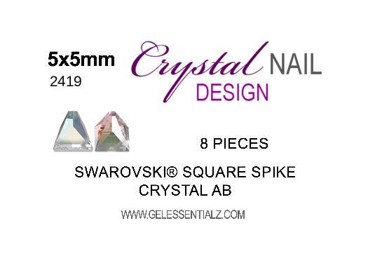 Swarovski Square Spike Flat Back - Crystal AB