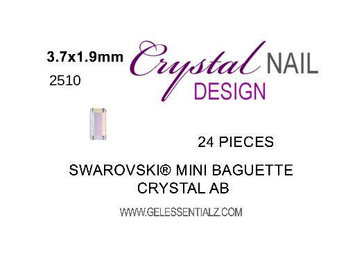 MINI BAGUETTE FLAT BACK - CRYSTAL AB