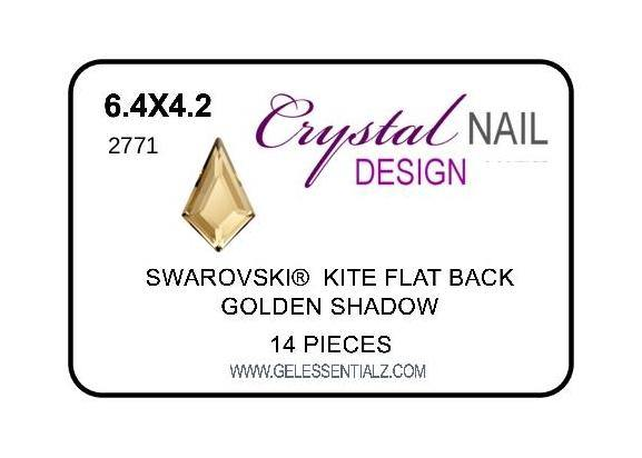 KITE FLAT BACK - GOLDEN SHADOW 6.4X4.2MM-Gel Essentialz