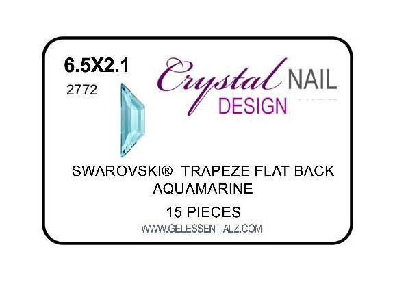 TRAPEZE FLAT BACK - AQUAMARINE-Gel Essentialz