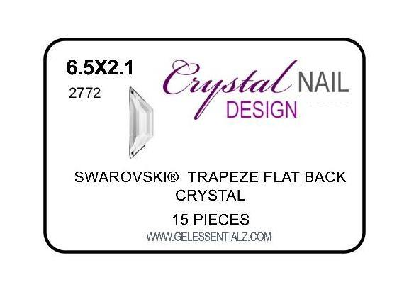 TRAPEZE FLAT BACK - CRYSTAL-Gel Essentialz