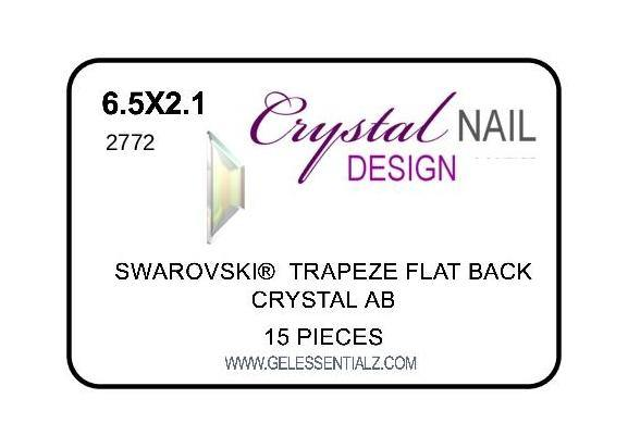 TRAPEZE FLAT BACK - CRYSTAL AB-Gel Essentialz