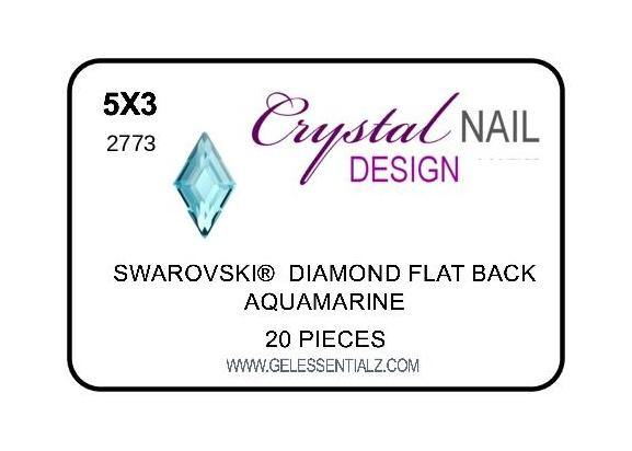 DIAMOND FLAT BACK - AQUAMARINE-Gel Essentialz