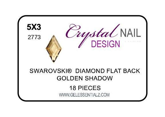 DIAMOND FLAT BACK - GOLDEN SHADOW-Gel Essentialz