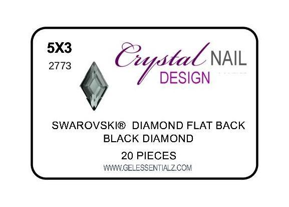 DIAMOND FLAT BACK - BLACK DIAMOND-Gel Essentialz