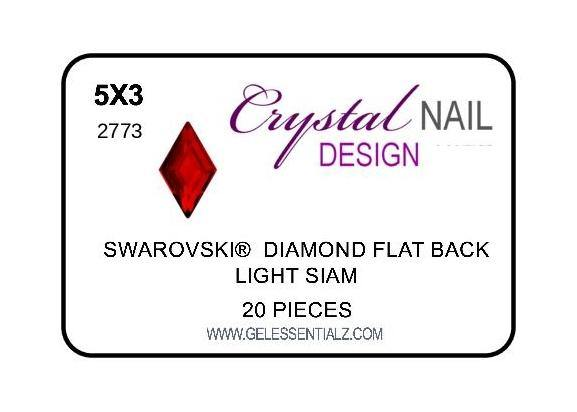 DIAMOND FLAT BACK - LIGHT SIAM-Gel Essentialz