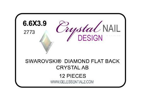 DIAMOND FLAT BACK - CRYSTAL AB-Gel Essentialz