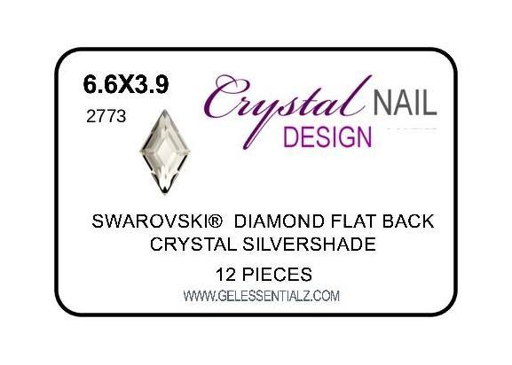 DIAMOND FLAT BACK - SILVERSHADE-Gel Essentialz