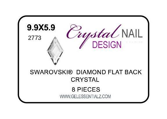 DIAMOND FLAT BACK - CRYSTAL-Gel Essentialz