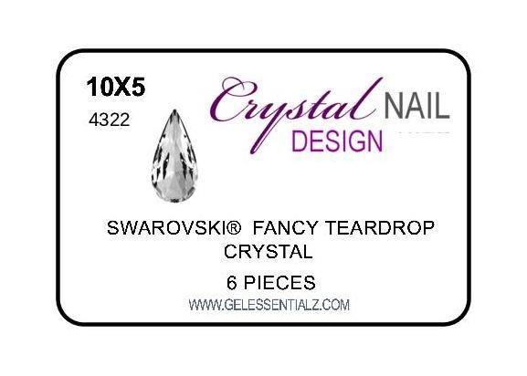FANCY TEARDROP CHATON - CRYSTAL 10X5MM-Gel Essentialz