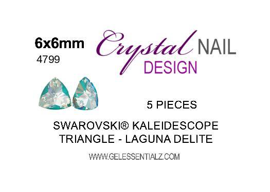 Kaleidoscope Triangle Fancy Stone - CRYSTAL LAGUNA DELITE 6X6.1MM 5PC