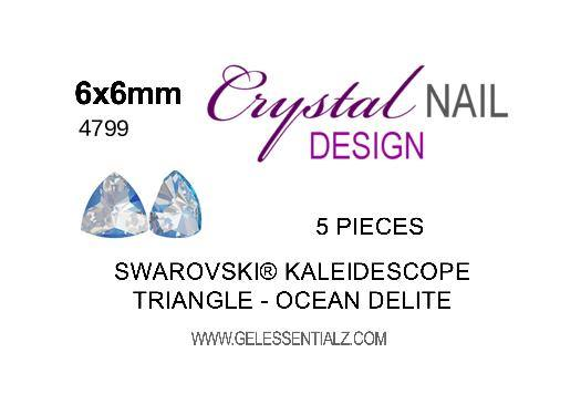 Kaleidoscope Triangle Fancy Stone - CRYSTAL OCEAN DELITE 6X6.1MM 5PC