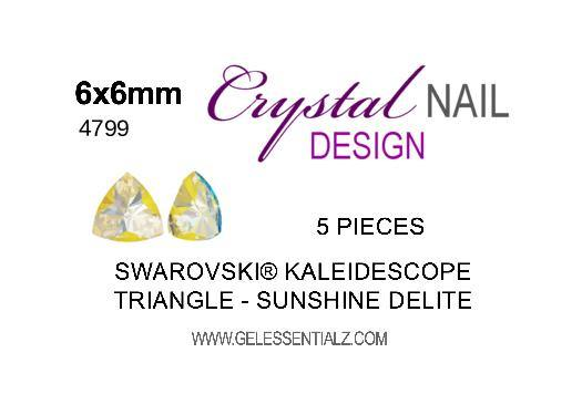 Kaleidoscope Triangle Fancy Stone - CRYSTAL SUNSHINE DELITE 6X6.1MM 5PC