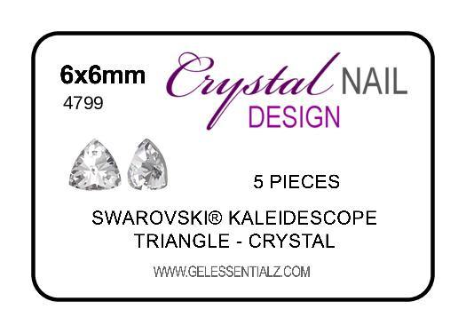 Kaleidoscope Triangle Fancy Stone - CRYSTAL 6X6.1MM 5PC