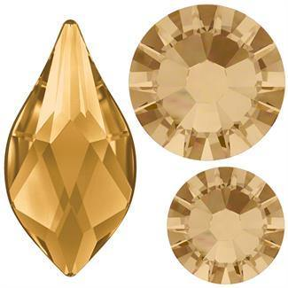 Swarovski Flame 2205 Mix Pack - Golden Shadow