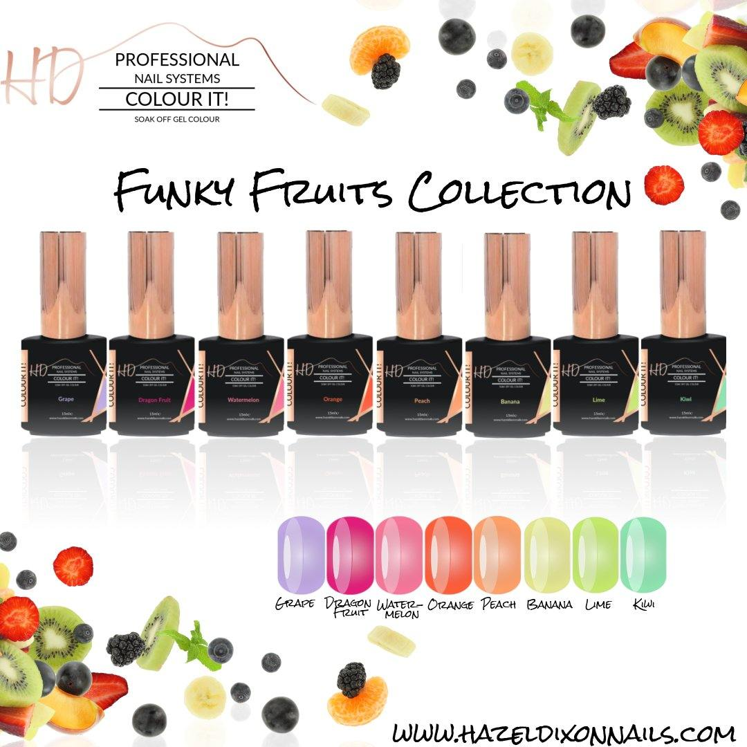 HD Colour It! Funky Fruits Collection (all 8 colors 15ml)